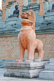 Lion statue cambodia style Royalty Free Stock Images