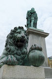 Lion of the Statue of Charles XIII, Stockholm, Sweden Royalty Free Stock Photos