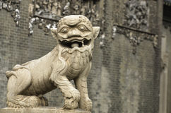 Lion Statue in China Royalty Free Stock Photos