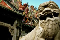 Lion Statue in China Royalty Free Stock Image