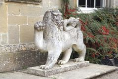 Lion statue at Croft Castle in Yarpole, Leominster, Herefordshire, England, Europe Stock Images
