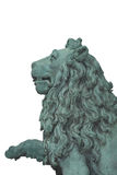 Lion Statue Cutout Stock Image