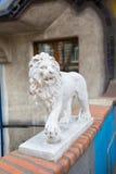 Lion statue - detail of Hundertwasser house in Vienna, Austria Stock Photo