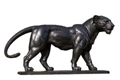 Lion Statue en bronze Photo stock