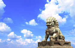 Lion statue in Forbidden City, Beijing, China Royalty Free Stock Photo