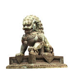 Lion statue in Forbidden City, Beijing, China Stock Images