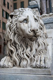 Lion statue in Genoa Royalty Free Stock Photo