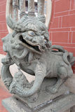Lion statue inside the Summer Palace in Beijing Stock Photos