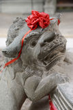 Lion statue inside the Summer Palace in Beijing Royalty Free Stock Image