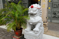 Lion statue inside the Summer Palace in Beijing Royalty Free Stock Photography