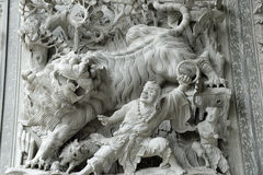 Lion statue inside the Summer Palace in Beijing Stock Image