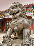 Lion Statue Inside The Summer Palace In Beijing Royalty Free Stock Images