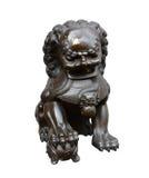 Lion Statue isolate on white Royalty Free Stock Photos