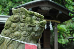 Lion Statue, Kamakura Japan Stock Photo