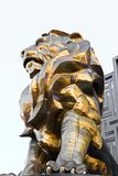 Lion statue at Las Vegas MGM Grand Casino Hotel on the Las Vegas Strip Royalty Free Stock Photo