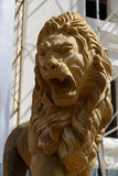 Lion statue from Leon cathedral Royalty Free Stock Photo