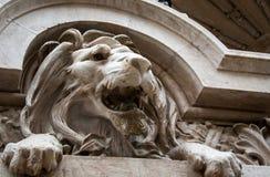 Lion statue lisbon Stock Image