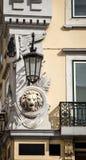Lion statue lisbon Stock Images
