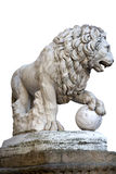 Lion statue in the Loggia della Signoria Royalty Free Stock Photography