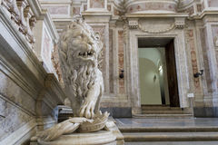 Lion statue. Lion in the luxury palace in caserta Royalty Free Stock Photo