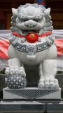 Lion statue. Magelang, Indonesia - December 23, 2017: Lion statue at Chinese Temple Liong Hok Bio in Magelang, Central Java royalty free stock images