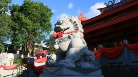 Lion statue. Magelang, Indonesia - December 23, 2017: Lion statue at Chinese Temple Liong Hok Bio in Magelang, Central Java royalty free stock image