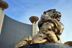 Lion Statue, MGM Grand Royalty Free Stock Photos