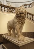 Lion Statue in Naples stock images