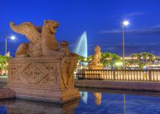 Lion statue near Brunswick monument, Geneva Stock Photo