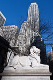 Lion Statue at the New York City Library Royalty Free Stock Images
