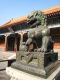 Lion Statue no palácio de verão fotografia de stock royalty free