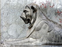 lion statue in Palermo Royalty Free Stock Photos