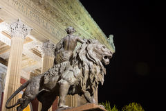 Lion statue palermo Royalty Free Stock Photo