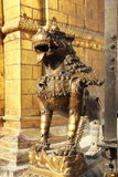 Lion Statue at Patan,Kathmandu, Nepal. Royalty Free Stock Images