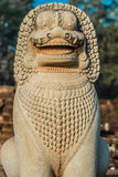 Lion statue portrait angkor thom cambodia Royalty Free Stock Photos