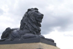 Lion statue. Rochester Bridge details in England. Royalty Free Stock Photos