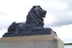 Lion statue. Rochester Bridge details in England. Stock Image