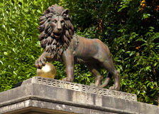 Lion Statue on Royal Avenue in Bath Royalty Free Stock Photo