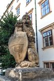 Lion statue at the Royal Palace Hofburg in Vienna. Austria Stock Image