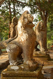 Lion statue at the Royal reservoir Royalty Free Stock Photo