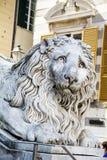 Lion statue of Saint Lorenzo church Royalty Free Stock Images