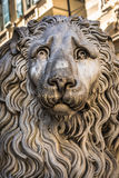 Lion statue of San Lorenzo Cathedral, Duomo di Genoa, Liguria Royalty Free Stock Photos