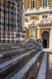 Lion statue of San Lorenzo Cathedral, Duomo di Genoa, Liguria Royalty Free Stock Image