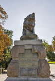 Lion statue at the Schlossberg hilltop in Graz, Austria Royalty Free Stock Image