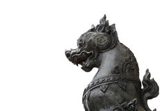 Lion statue Singha Royalty Free Stock Photos