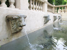 Lion statue  spitting water - vintage style Royalty Free Stock Photo