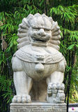 Lion statue at the temple in Singapore Royalty Free Stock Photography