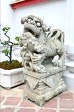 Lion Statue. In Thai temple Stock Image