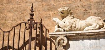 Lion statue, Valencia, Spain Stock Images