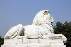 Lion Statue at Victoria Memorial Gate, Kolkata Stock Images